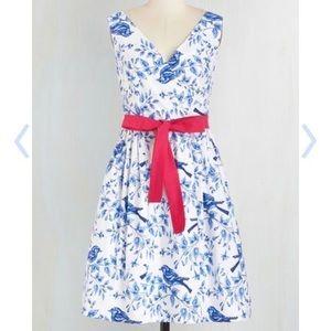 ModCloth Wrap Bird Dress